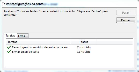Configurando email no Microsoft Office Outlook 2013 - Tela 11