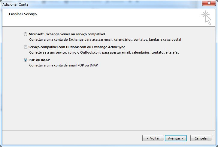Configurando email no Microsoft Office Outlook 2013 - Tela 5