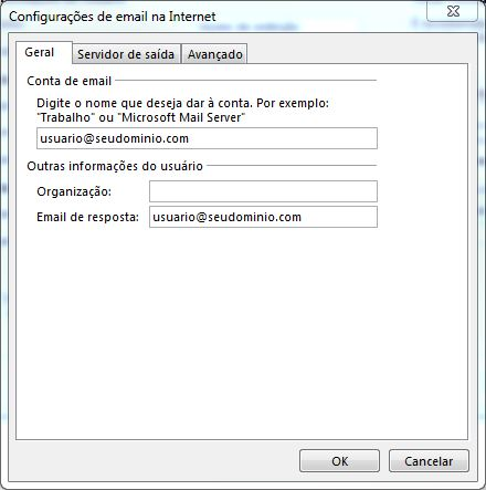 Configurando email no Microsoft Office Outlook 2013 - Tela 7