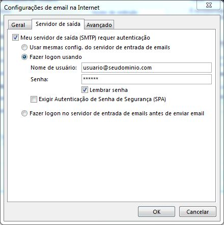 Configurando email no Microsoft Office Outlook 2013 - Tela 8